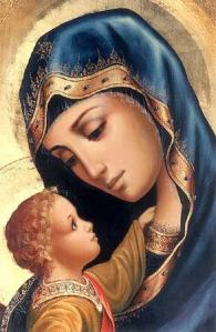 maria en jezus icoon