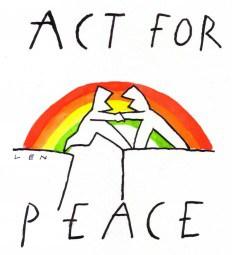 Vrede, cartoon van Len voor 2013