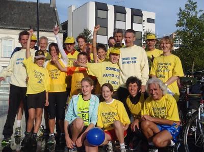 Het team van Zonder Auto Kan Het Ook, september 2013