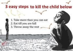 Als we ons voedsel niet verspillen heeft ook dit kind voldoende te eten.