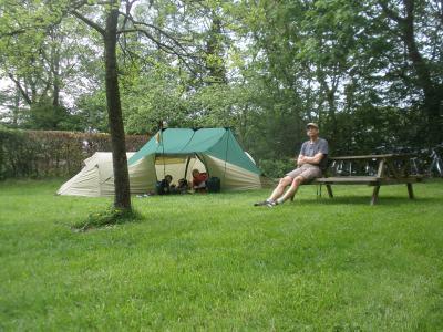 In afwachting van de onweersbui op de camping bij Zuidwolde