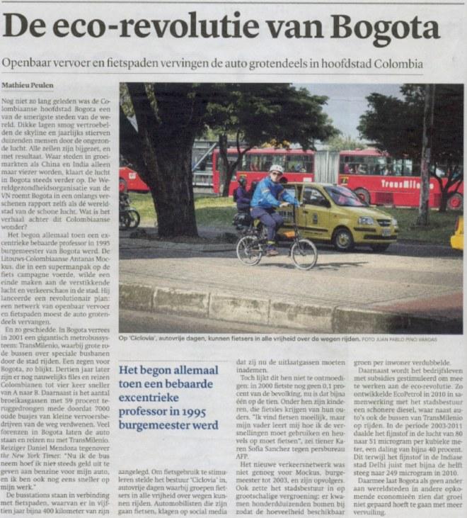 eco revolutie Bogota