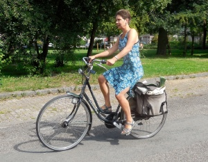 boodschappen op de fiets