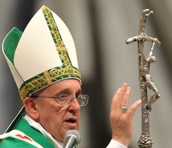 paus Franciscus groen