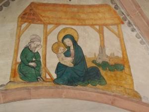 kerststal plafond kerk basel