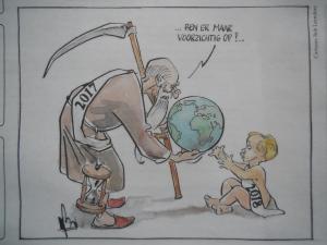 cartoon zorg voor de aarde